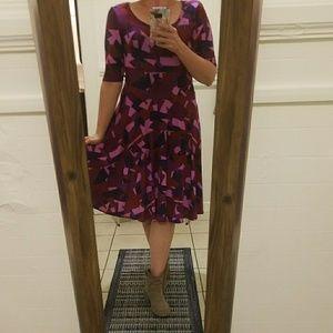 Fun! Pink magenta purple geometric print Nicole